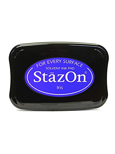 Tsukineko StazOn Solvent Ink iris 3.75 in. x 2.625 in. full-size pad [PACK OF 2 ] by Tsukineko