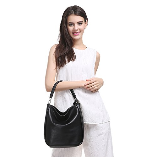 Tote Black Davidjones Handle Hobo Women's Handbags Leather Top Faux Shoulder Purse qqB8Uv41