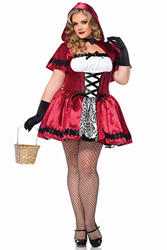 Gothic Red Riding Hood (Gothic Red Riding Hood Costume - Plus Size 3X/4X - Dress Size 22-26)