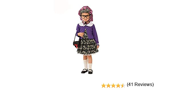 Rubies - Disfraz de pequeña mujer vieja para niña, talla 5-7 años ...