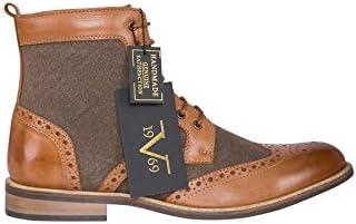 19V69 Leder Business Schuhe Herren braun 43