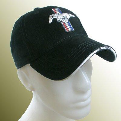 Ford Mustang Logo Black Baseball Hat