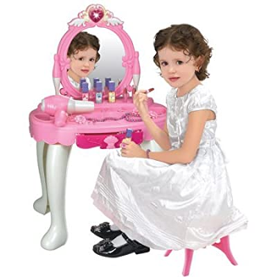 Jewel Vanity with Stool and Accessories