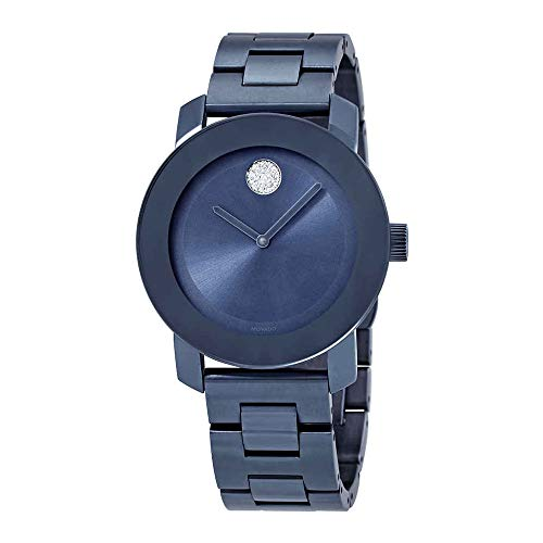 Bold Light Blue Dial Ladies Watch - Movado 3600494