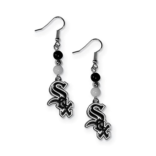 (Gifts Licensed Gifts MLB Siskiyou Buckle Chicago White Sox Fan Bead Dangle Earrings)