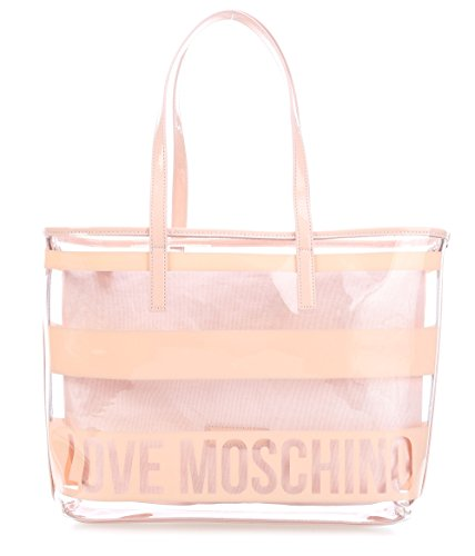 Love Moschino Transparent Logo Shopper powder