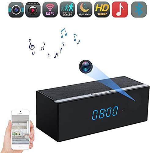 Bluetooth Music Player – HD 1080P Night Vision WiFi Hidden Camera – Wireless Stereo Speaker Night Vision Spy Cam – Mini Nanny Night Vision Camera – Motion Detection Alarm – Up to 128G