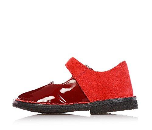 EUREKA - Ballerine rouge en vernis et velours,fille,filles,enfant