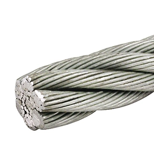 3 8 Steel Cable : Aleko wr g f inch galvanized aircraft