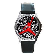 Michael Jordan Unisex Silver-tone Round Metal Watch