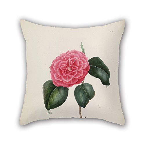 Bestseason 20 X 20 Inches / 50 By 50 Cm Flower Valentine Day Pillow Covers Each Side Is Fit For Lounge Valentine Birthday Floor Her ()