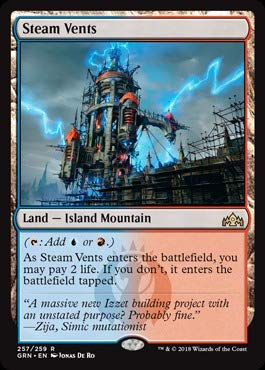 Steam Magic - Magic: the Gathering - Steam Vents (257/259) - Guilds of Ravnica