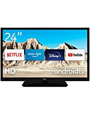 Nokia Mini Smart TV 24 Inch Android TV (HD Ready, AV Stereo, WiFi, 12 Volt, Triple Tuner - DVB-C/S2/T2, Netflix, Prime Video, Disney+)
