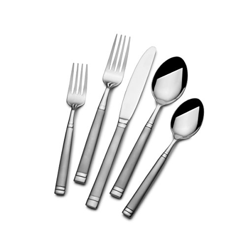 Towle Living 5199622 20-Piece Stephanie Frost Forged Stainless Steel Flatware Set, Service for (Forged Stainless Steel Flatware Set)