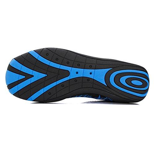 Z.suo Hommes Femmes Et Enfants Pieds Nus Souple À Séchage Rapide Chaussures De Leau Aqua Chaussettes Pour La Plage Nager Surf Yoga Exercice 1. Bleu