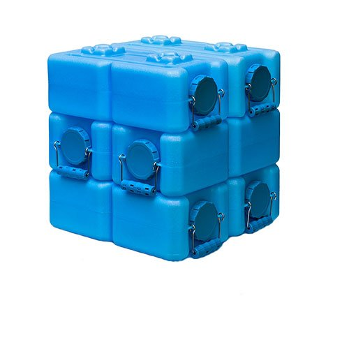 WaterBrick Blue Water Storage Container (6 pack) 3.5 Gallon by WaterBrick