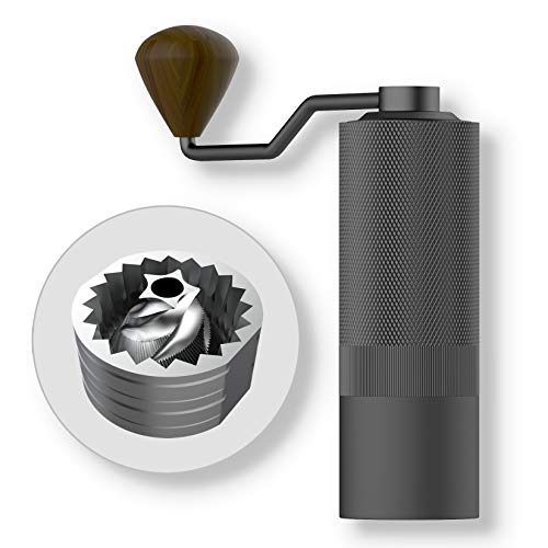 MAVO Wizard Manual Coffee Grinder, Burr Coffee Bean Grinder – Capacity 20g with CNC Stainless Steel Pentagon Conical…