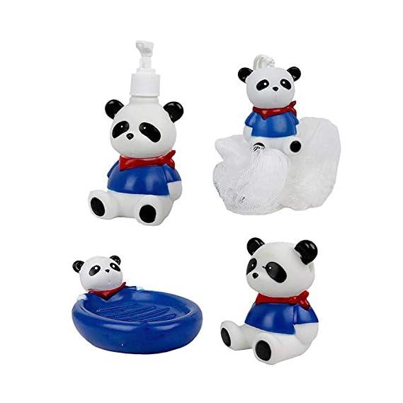 TRYATDELIVERY Sponge Cartoon Character Soap Holder Set/ Tooth Brush Holder Bathroom Accessories for Kids, Set of 4, Pack of 1