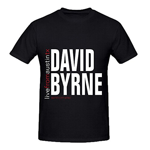 David Byrne Live From Austin Texas Electronica Mens Crew Neck Cute Tee Black
