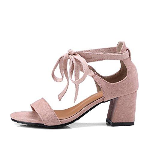 Tacco Sandali Blocco Estate Pink Lotus TAOFFEN Donna E4q0Sq7