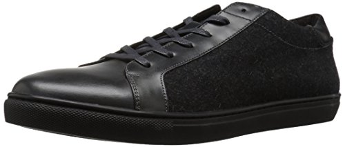 Kenneth Cole Men Kam Low-Top Sneakers, Black, Medium Grey Fabric