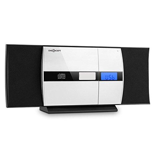 auna V-15 BT Bluetooth Stereoanlage mit CD-Player (MP3-fähig, Radio-Tuner, Wecker und Sleeptimer, Fernbedienung, Wandmontage geeignet) schwarz