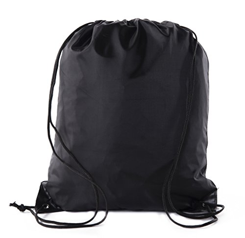 Mato & Hash Basic Drawstring Tote Cinch Sack Promotional Backpack Bag - 100PK Black CA2500 - 2 by Mato & Hash