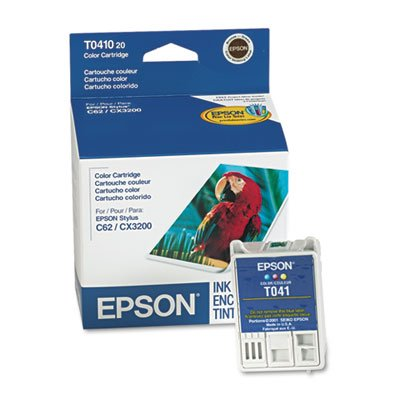 Epson Products - Epson - T041020 Ink, 300 Page-Yield, Tri-Color - Sold As 1 Each - Acid-free, dye-based ink. - Quick-drying formula offers performance and productivity, with resistance to smudging and bleeding. - Unique package design. - Meets the highest quality standards. -