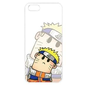 Popular Cute Cartoon Uzumaki Naruto Apple iPhone 5 TPU Soft Black or White case (White)