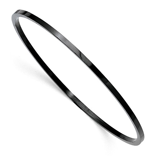- ICE CARATS Stainless Steel Black Plated Bangle Bracelet Cuff Expandable Stackable Slip On Fashion Jewelry Gifts for Women for Her
