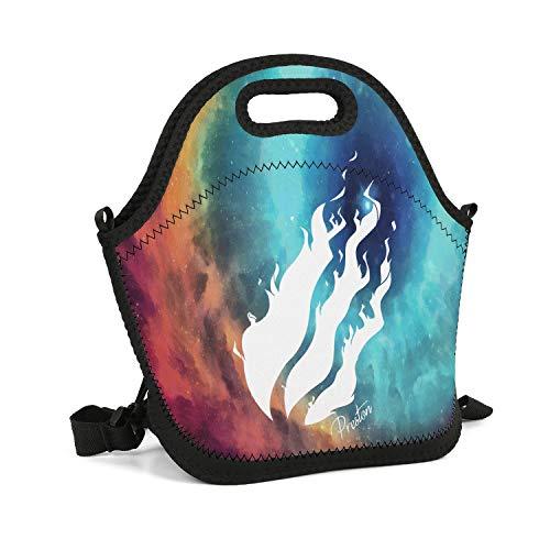 - uter ewjrt Durable Polyester Preston-Logo- Unisex Lunch Box Toto Mom Bag for School Work Outside Picnic
