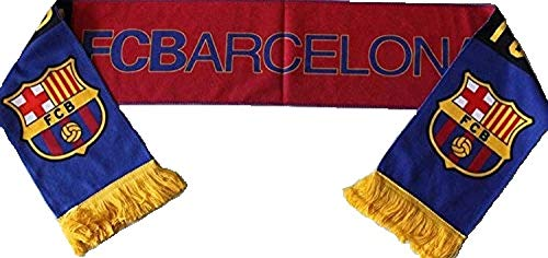 (FC BARCELONA BADGE LOGO FOOTBALL SOCCER SCARF)