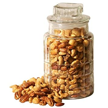 Amazon Com Gourmet Mixed Nuts This Decorative Glass Jar Is Filled