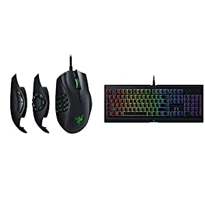 Razer Naga Trinity Gaming Mouse – [16, 000 DPI Optical Sensor][Interchangeable Side Plate w/ 2, 7, 12 Button Configurations] & Cynosa Chroma Gaming Keyboard – [Individuallly Backlit Keys]