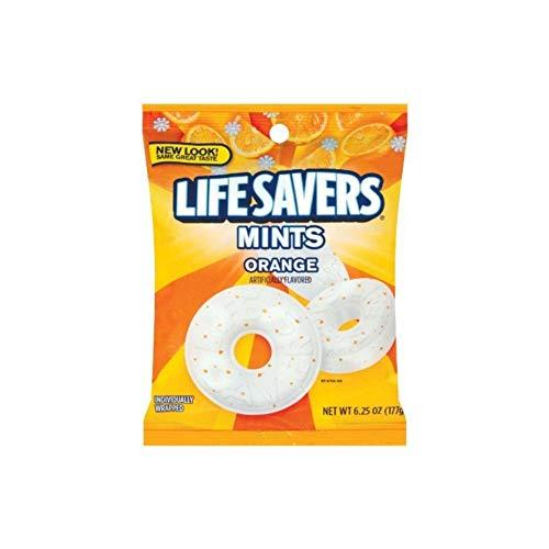 Life Savers, Orange Mints Hard Candy, 6.25oz Bags (Pack of 6)