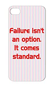 TPU Failure Isnt An Option. Weird Miscellaneous Failure Funny Shirt Nakedinside Fail Naked Inside Funny Case Cover For Iphone 5 Red