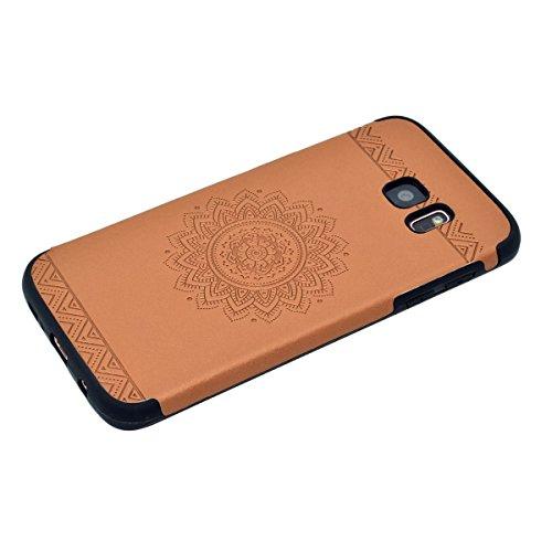 inShang Funda para Samsung Galaxy S7 Edge suave TPU Carcasa Cajas Soporte Skin case cover Para Galaxy S7 Edge Brown printing