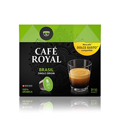 Café Royal Single Origin Brasil 48 Nescafé Dolce Gusto kompatible Kapseln (Intensität 7/10) 3er Pack (3 x 16 Kaffeekapseln)