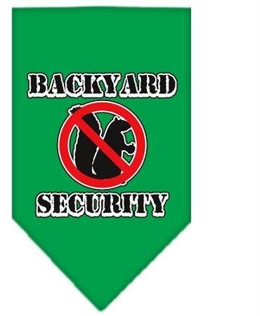 Backyard Security Screen Print Bandana Emerald Green Large Case Pack 24 Backy... by DSD
