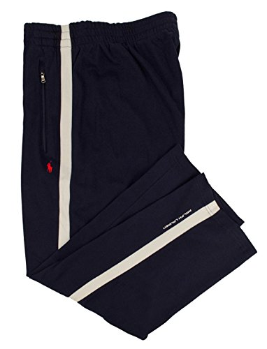 n's Big and Tall Interlock Cotton Track Pants (4LT, French Navy) ()