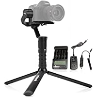 Beholder DS2A 3 Axis Handheld Gimbal Stabilizer 4Lbs Payload 8-10 Hours Working Time Built-in OLED Screen Non Blocking Screen Design for DSLR Mirrorless Cameras Less Than 1.8KG