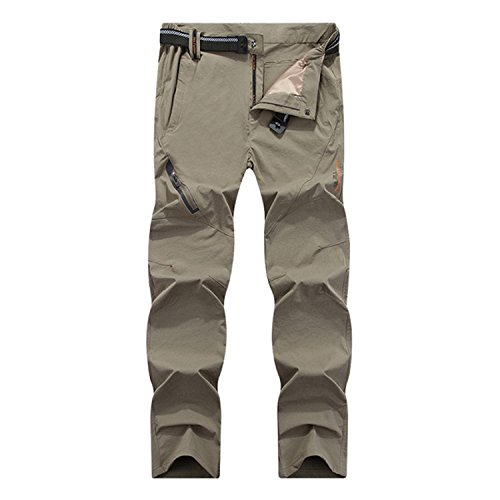 (Welcometoo New Summer Quick Dry Men's Trousers Casual Mens Pants Breathable Waterproof Army Pants Mens Brand Clothing 7XL 8XL Khaki 6XL)