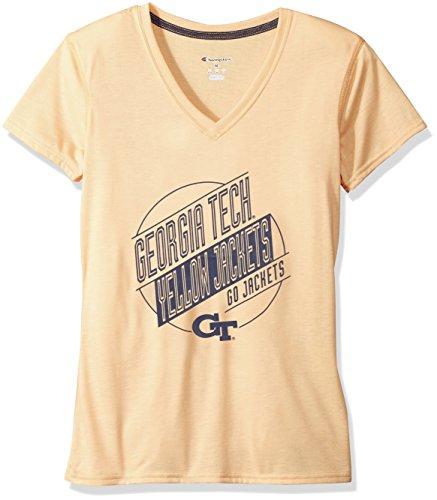 NCAA Mississippi Old Miss Rebels Womens Poly+ V-Neck T-Shirt