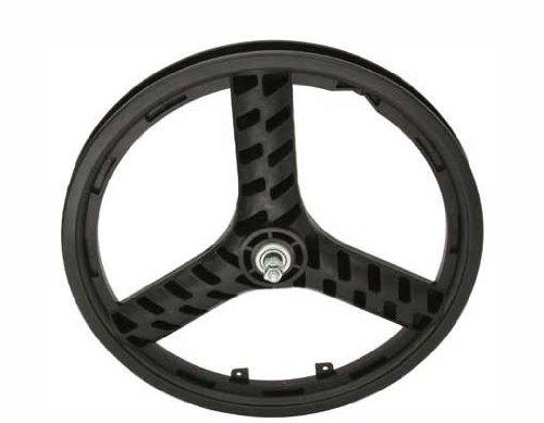 "20"" Plastic 3-Spoke Front Wheel Black. Bicycle wheel, bike wheel, Lowrider bike wheel, lowrider bicycle wheel, bmx, free style, chopper, cuiser, bike part, bicycle part"