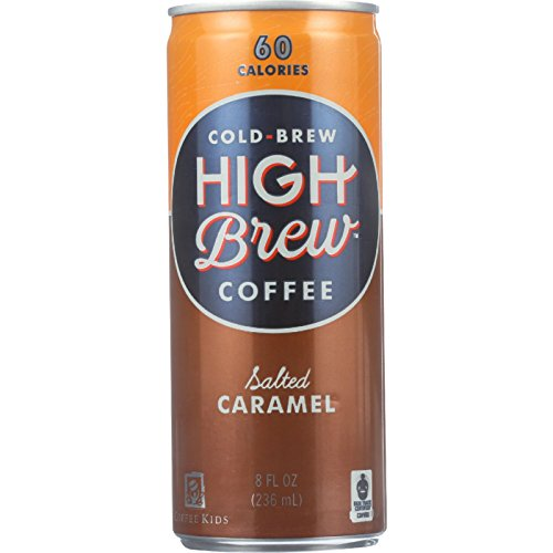 High Brew Coffee Coffee - Ready to Drink - Salted Caramel - 8 oz - case of 12 - Wheat Free-