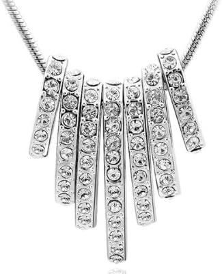 NINABOX® - Collier femmes filles - Bijoux fantaisie - Cristal Swarovski  Eléments (transparent) - 38 cm - Réf.NAG2546WW