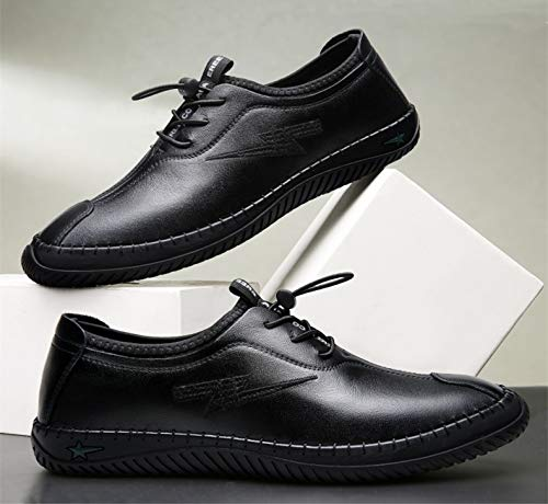 EU Men for Colore on 39 Nero Leather Dimensione Genuine Shoes Qiusa Nero Slip g1vqxHHf