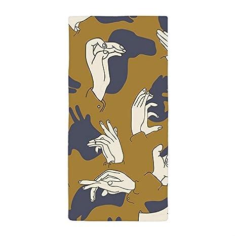 jkyuko Funny mano sombra cena absorbente cena absorbente toalla toalla de baño toalla de playa de microfibra: Amazon.es: Hogar