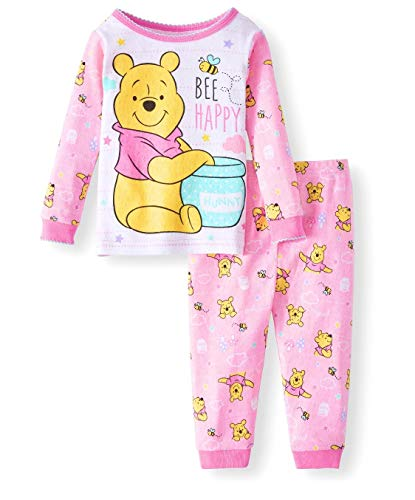 Disney Baby Girls Winnie The Pooh Cotton Pajama Set