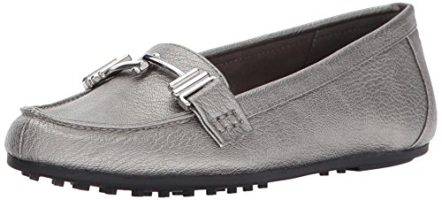 Aerosoles A2 Damen Test Drive Slip-On Loafer Dark Silve Metall